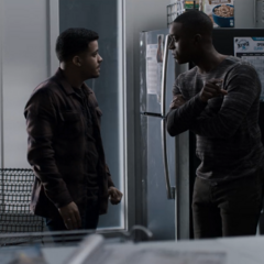 Tony and Caleb arguing