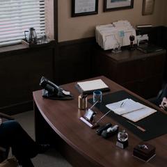 Jessica and Principal Bolan at his office