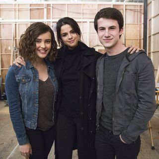 BTS Image of Katherine, Selena and Dylan