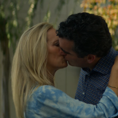 Andrew kissing his new girlfriend Valerie in a flashback
