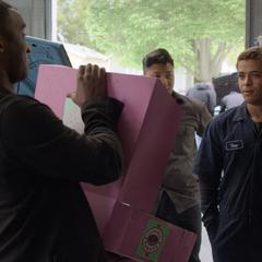 Caleb asking Tony to prom