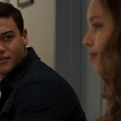 Diego talking with Jessica