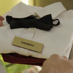 Hannah's uniform