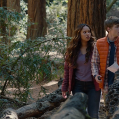 Jessica and Alex on the treasure hunt