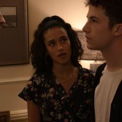 Valerie's boyfriend Aaron confronting Clay