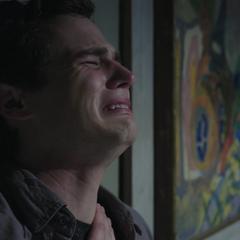 Justin crying