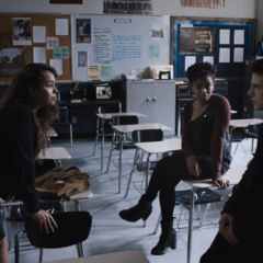 Clay and Ani talking with Jessica