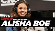13 Reasons Why - Alisha Boe -Jessica- Talks About Her Depression and Reenacts A Scene