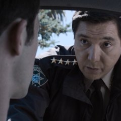 Sheriff Diaz confronting Clay