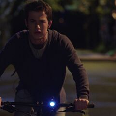 Clay Jensen cycling back home