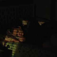 Hannah lying awake