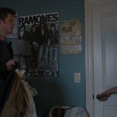 Charlie sneaking out of Alex' room
