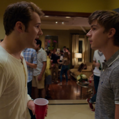 Bryce and Alex at the party