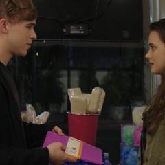 Ryan giving Hannah a journal