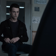 Clay waiting at the police station