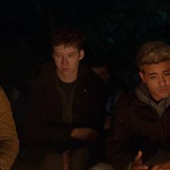 Tyler and Tony at the campfire