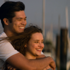 Zach and Hannah at the docks