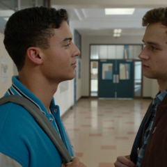 Diego confronting Justin about the tape