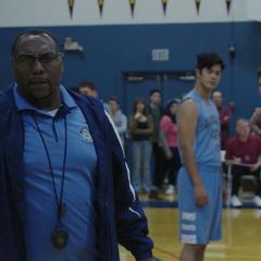 Coach Patrick yelling at Clay