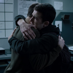 Tyler and Clay hugging
