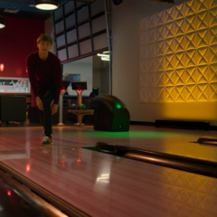 Winston and Alex bowling