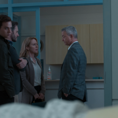 The Jensens talking with Dr. Ellman
