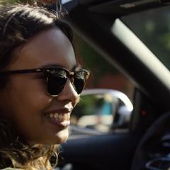 Jessica driving