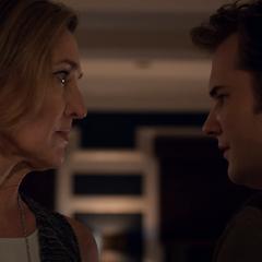 Mrs. Walker confronting her son