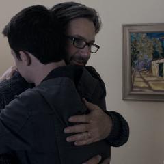 Clay hugging Matt