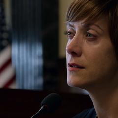 Olivia testifying