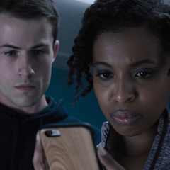 Clay and Ani going through Alex's phone