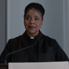 Pastor giving a speech