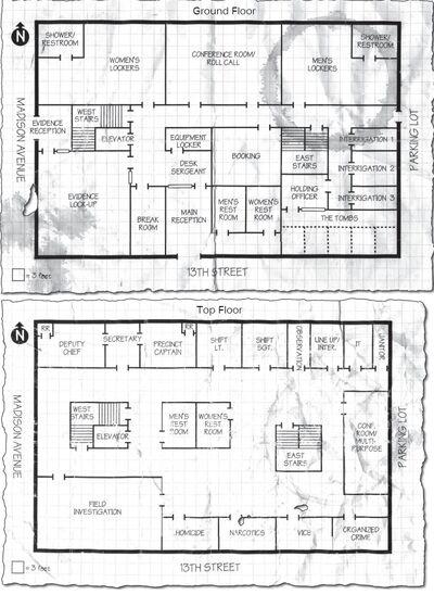 13th Precinct Floorplan