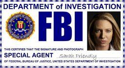 Sarah Friendly ID badge