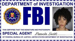 Pamela Swift ID badge