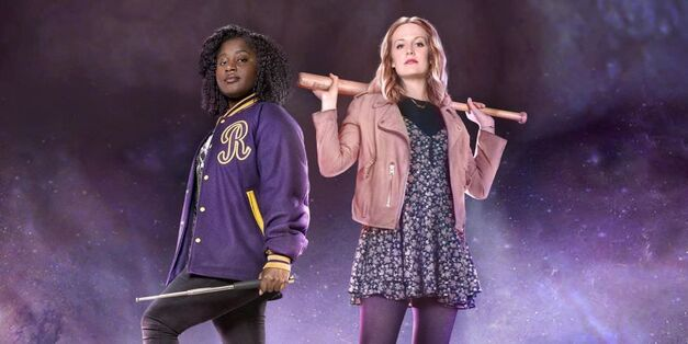 Susan Wokoma and Cara Theobold as Raquel and Amy in Crazyhead on Netflix