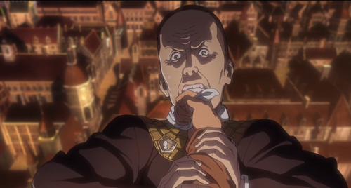 attack on titan season 2 episode 1 beast titan minister nick