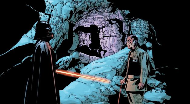Panel from Darth Vader, Issue 20 featuring Vader and Inspector Thanoth