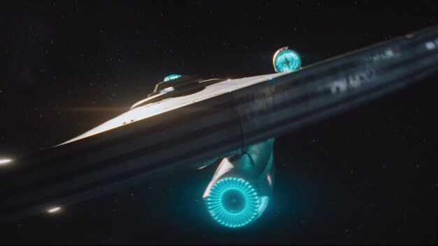 Star Trek Enterprise in space