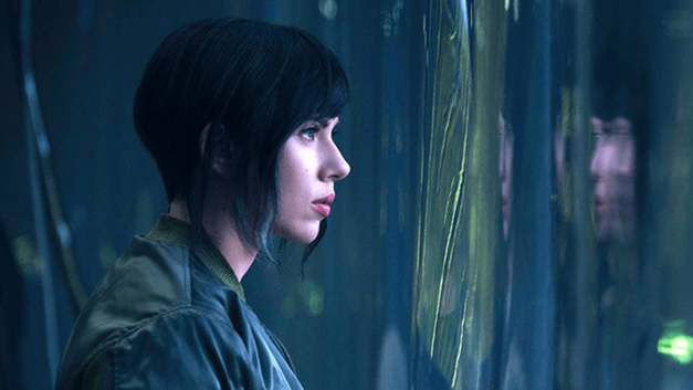 Johansson in Ghost in the Shell
