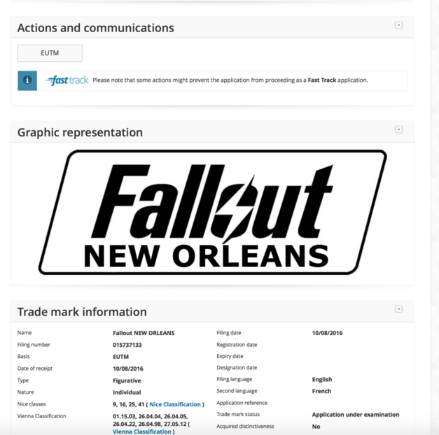 Fallout New Orleans suspected registration