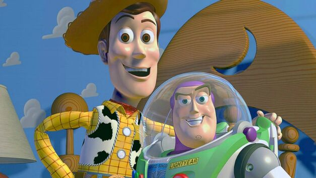 Woody and Buzz Lightyear in Toy Story
