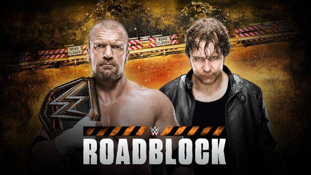WWE-Roadblock-TripleH-Ambrose