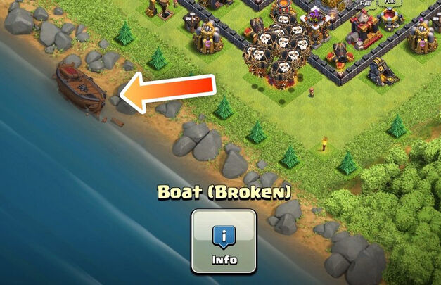 broken boat builder update clash of clans