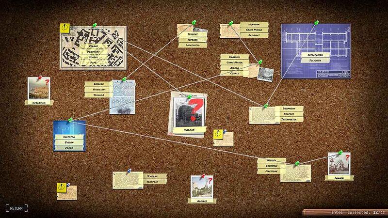 Phantom Doctrine intel puzzle game