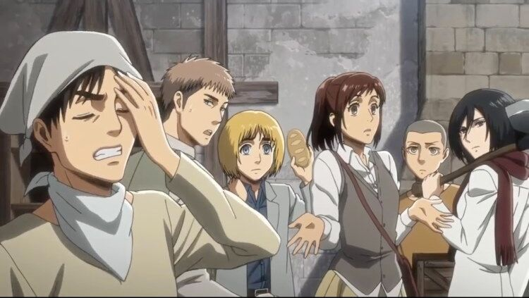 Attack on Titan cast cleaning (1)