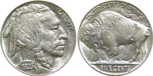 File:1935 US Indian Head Buffalo Nickel.jpg