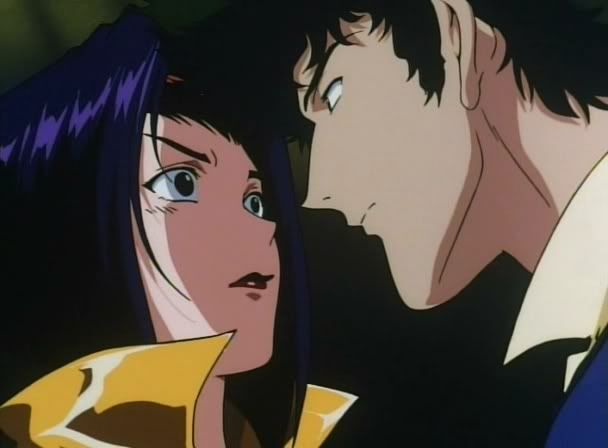 Faye and Spike in Cowboy Bebop
