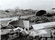 Emley Moor Mast Wreckage
