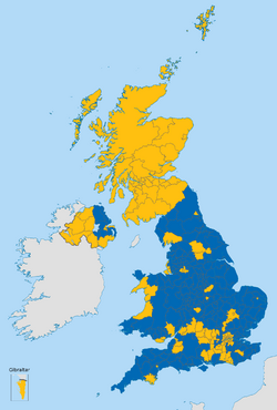 United Kingdom EU referendum 2016 area results 2-tone